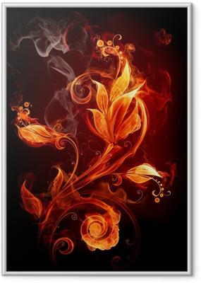 Ild blomst Indrammet plakat