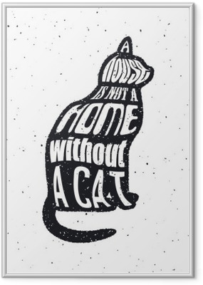 Çerçeveli Poster Kediler gibi doesnt bir adama asla güvenme.