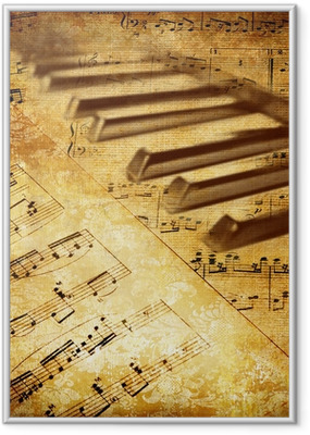 Poster in Cornice Vintage background musicale