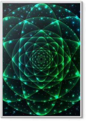 Poster en cadre Sacré symbole de la géométrie. élément de mystère Mandala