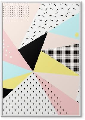 Poster en cadre Géométrique conception memphis background.Retro pour invitation, carte de visite, affiches ou des bannières. - Ressources graphiques