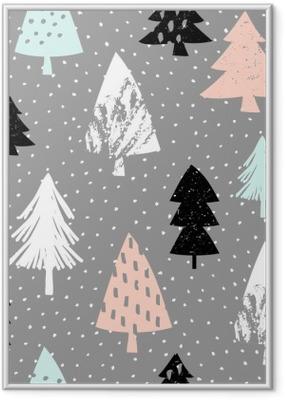 Seamless Christmas Pattern Framed Poster