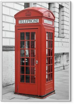 Poster en cadre Cabine téléphonique rouge à Londres - Thèmes