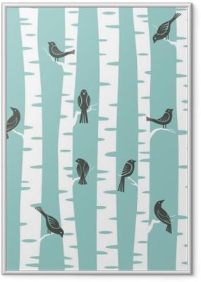 trees pattern Framed Poster
