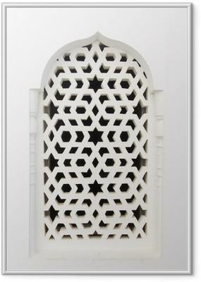 Póster com Moldura White window