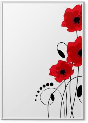 Poster en cadre Red poppies - Fleurs