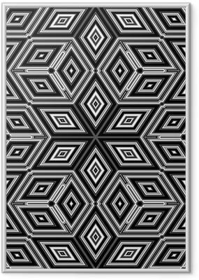 Poster en cadre 3d cubes abstraits ressemblant à une illustration Escher