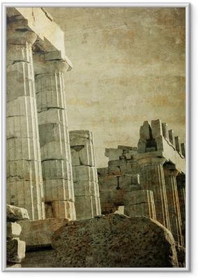 Poster en cadre Image vintage de colonnes grecques, Acropole, Athènes, Grèce
