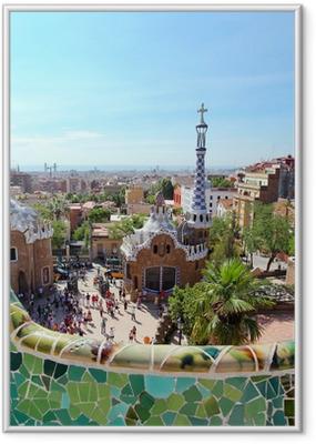 Plakat w ramie BARCELONA, HISZPANIA słynny Park Guell