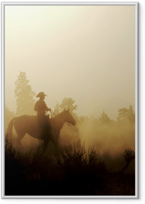 Peaceful Cowboy Framed Poster