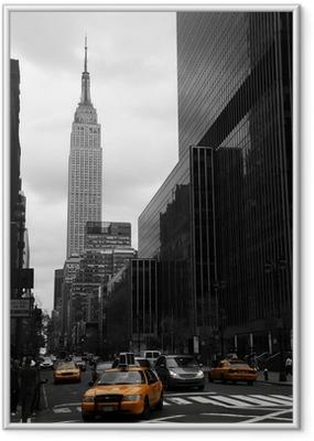 Poster i Ram Gula taxibilar på 35: e gatan, Manhattan, New York