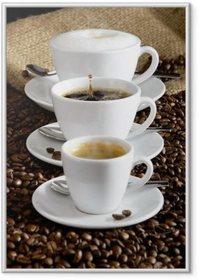 Póster com Moldura Kaffee