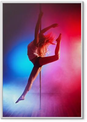 Ingelijste Poster Jonge paal dans vrouw