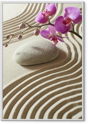 Ingelijste Poster Zen oosterse bloem