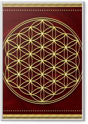 Poster en cadre Fleur de Vie or