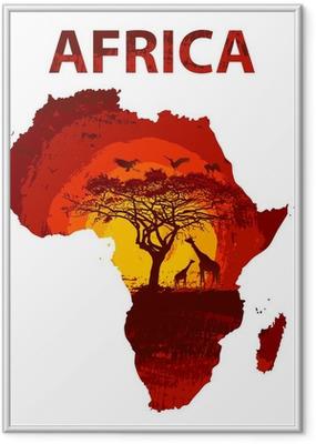 Gerahmtes Poster Afrika