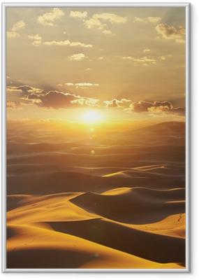 Póster com Moldura Desert