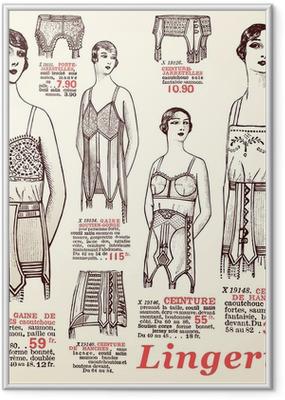Póster com Moldura lingerie 1930