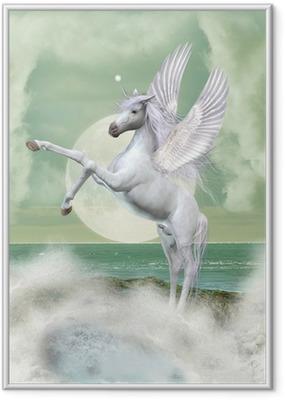 Póster com Moldura unicorn
