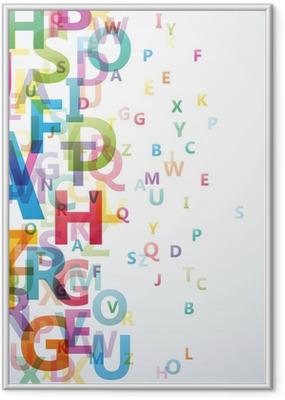 Gerahmtes Poster Abstrakt Farbe Alphabet auf weißem Hintergrund # Vektor