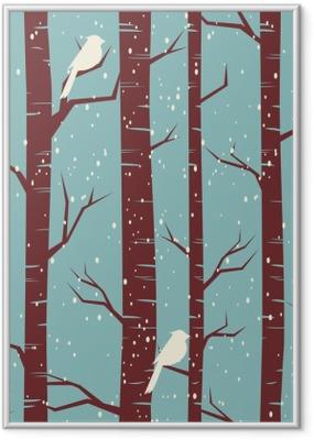 Poster en cadre Winter Forest Seamless - Thèmes
