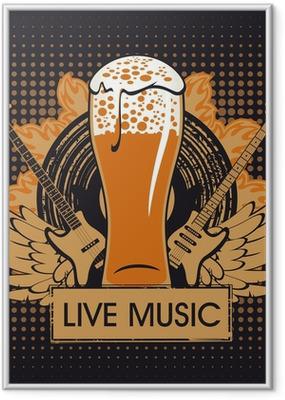 Gerahmtes Poster Banner für den Pub mit Live-Musik