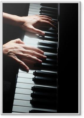 Poster in Cornice Tasti di pianoforte tastiera pianista mani