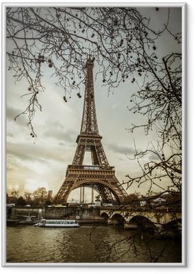 Poster en cadre Vue de la Tour Eiffel