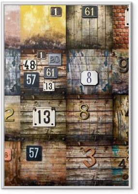 Poster i Ram Urban konst collage