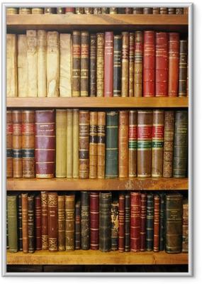 Plakat w ramie Stare książki, biblioteki