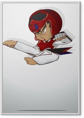 taekwondo martial art Framed Poster
