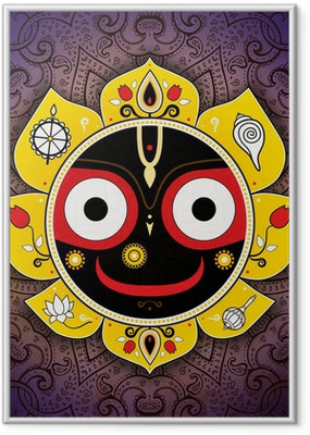 Poster en cadre Jagannath. Dieu indien de l'Univers. Seigneur Jagannath. - Religion