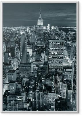 Póster com Moldura Empire State Building closeup