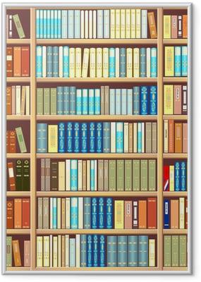 Bookcase full of books Framed Poster