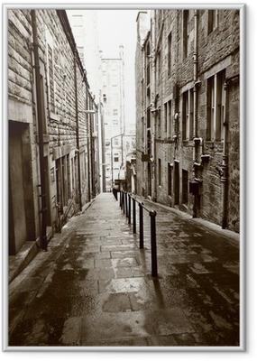 Ingelijste Poster Oude straten van Edinburgh