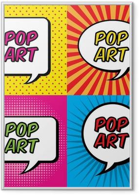 pop art Framed Poster