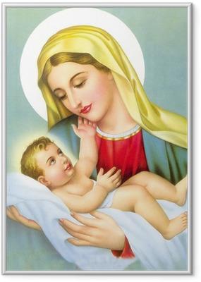 Poster en cadre DIEU JESUS SE MARIER AVEC LA MÈRE