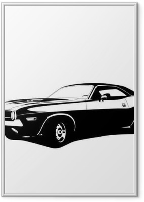 Gerahmtes Poster Muscle-Car-Profil