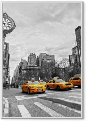 Póster com Moldura 5th Avenue, New York City.