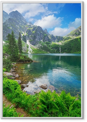 Eye of the Sea lake in Tatra mountains, Poland Framed Poster