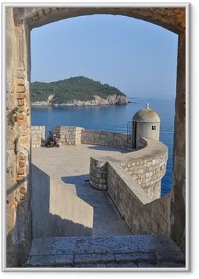 Ingelijste Poster Uitzicht vanaf Dubrovnik stadsmuren