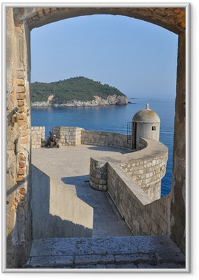 Poster en cadre Vue de Dubrovnik murs de la ville