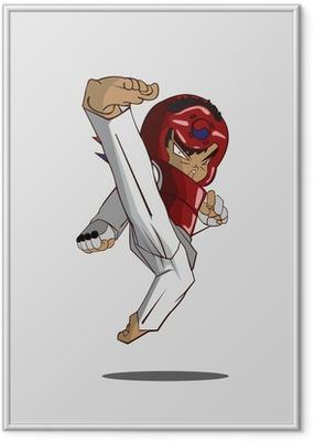 Poster en cadre Taekwondo art martial
