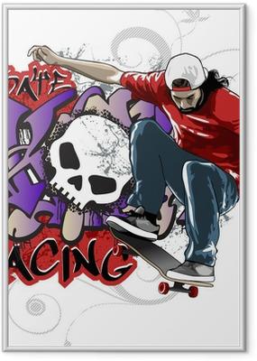 Poster i Ram Skate Racing