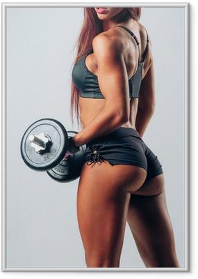 Poster en cadre Musculation femme