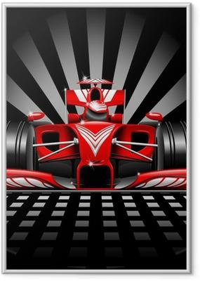 Plakat w ramie Formuła 1 czerwony samochód wyścigowy