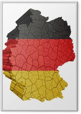 Gerahmtes Poster Deutschlandkarte