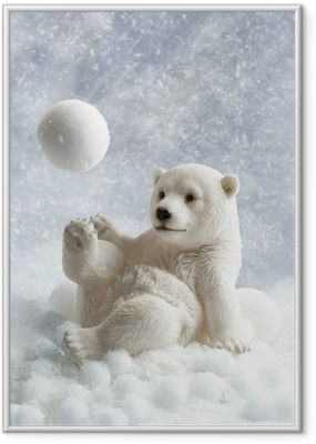 Polar Bear Decoration Framed Poster