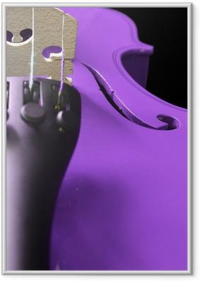 Gerahmtes Poster Lila Violin