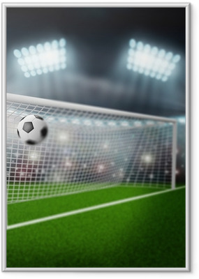 Poster i Ram Fotboll flyger in i mål